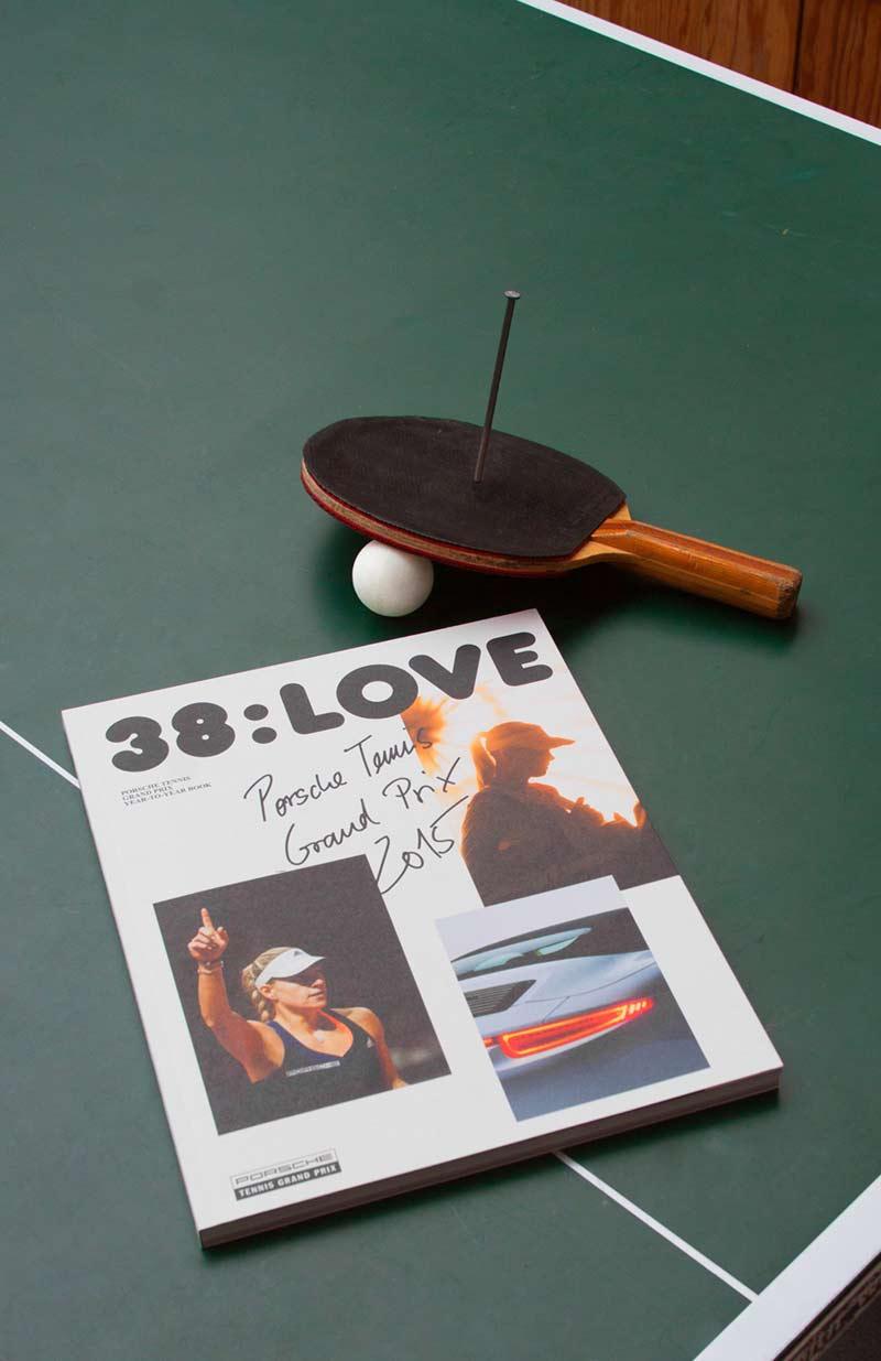 38:love Porsche Magazin für den Porsche Tennis Grand Prix 2015 gewinnt ADC Award - panorama studio für visuelle Gestaltung