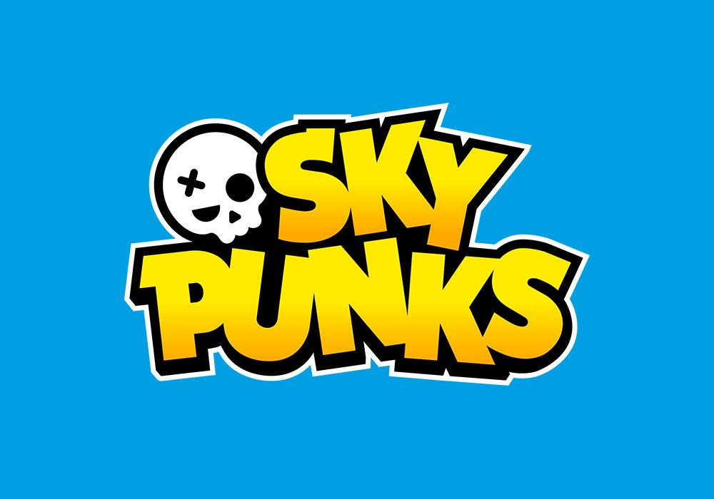 Sky Punks App Mobil Game Logo Design für Fathom Interactive - panorama studio für visuelle kommunikation