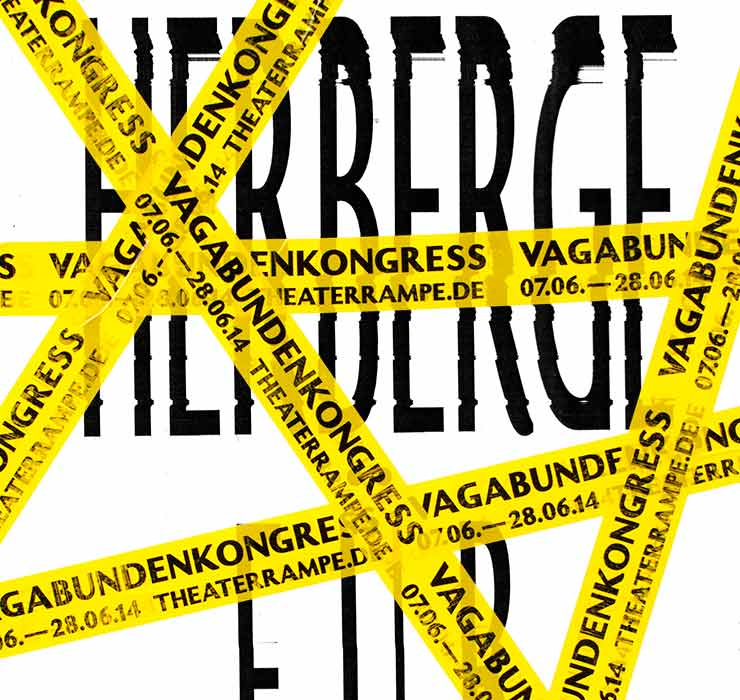 Vagabunden Kongress Plakat Design für Theater Rampe - panorama studio für visuelle kommunikation